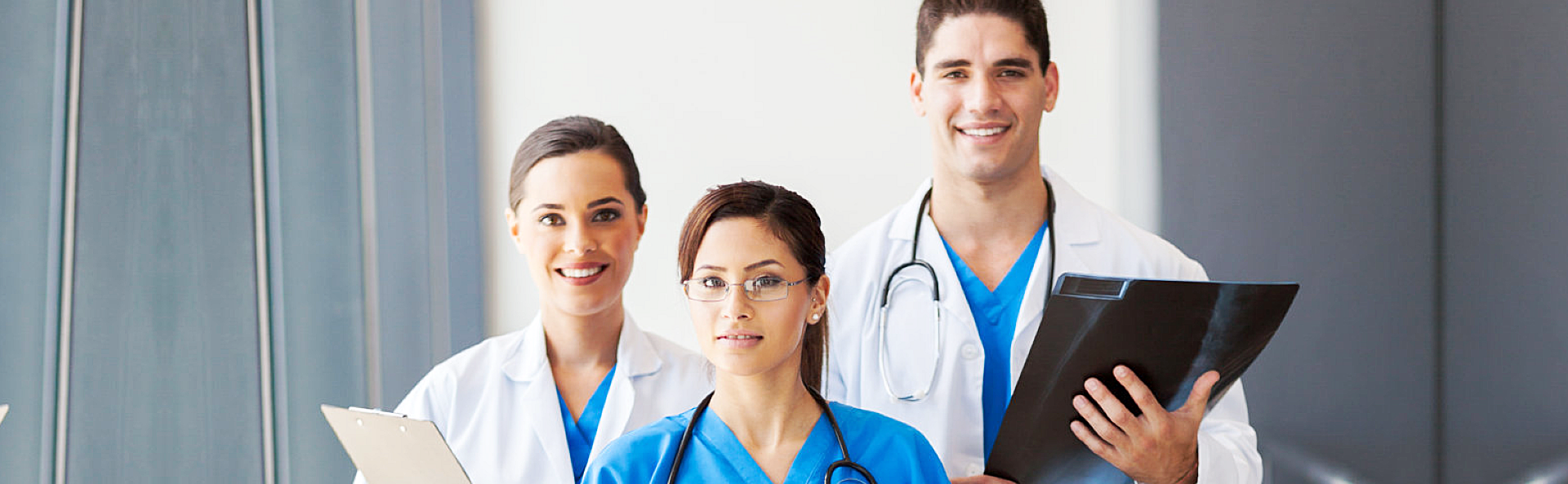 Group of professional doctors and nurse